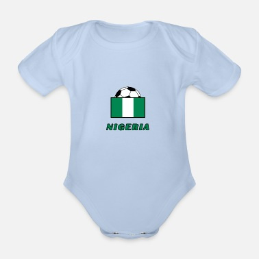 National Team NIGERIA national team design - Organic Short-Sleeved Baby Bodysuit