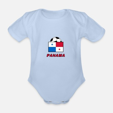 National Team PANAMA national team design - Organic Short-Sleeved Baby Bodysuit