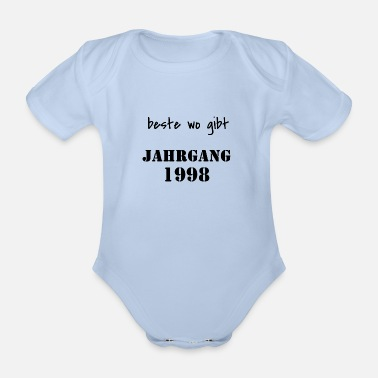 Bursdag Vintage 1998 birthday 20 years gift - Organic Short-sleeved Baby Bodysuit
