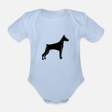 Doberman Doberman - Organic Short-sleeved Baby Bodysuit
