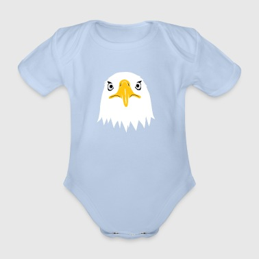 bald eagle head eyes beak - Organic Short-sleeved Baby Bodysuit