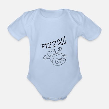 Pizza Pizza, pizza, pizza - Organic Short-Sleeved Baby Bodysuit