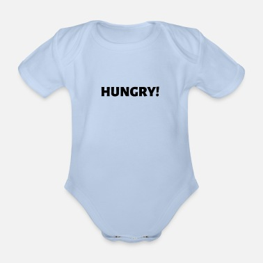 Hungry HUNGRY - Organic Short-Sleeved Baby Bodysuit