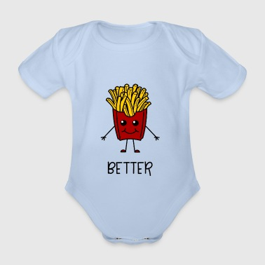 Better Together Partnerlook (Part1) Pommes - Baby Bio-Kurzarm-Body