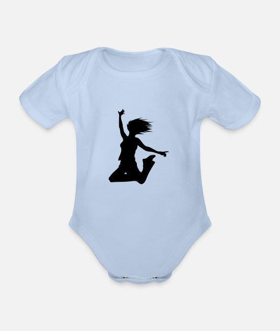 Blow Up Baby Bodysuits - Silhouette Woman - Organic Short-Sleeved Baby Bodysuit sky