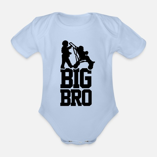 Bro Baby Clothes - Big Bro - Organic Short-Sleeved Baby Bodysuit sky