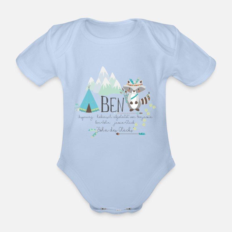 418b62c0259 Birthday Baby Clothes - Ben name with meaning name shirt Benjamin boy -  Organic Short-