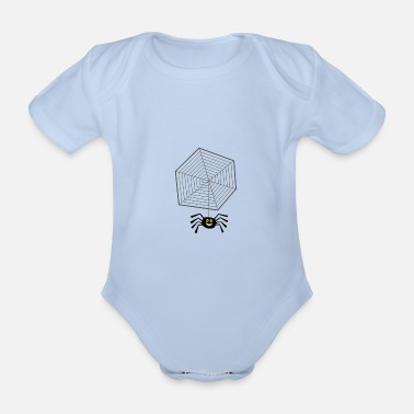 Net Net with spider - Organic Short-sleeved Baby Bodysuit