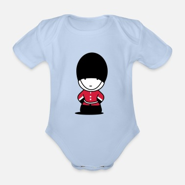 Funny A Royal Guard in London - Organic Short-Sleeved Baby Bodysuit