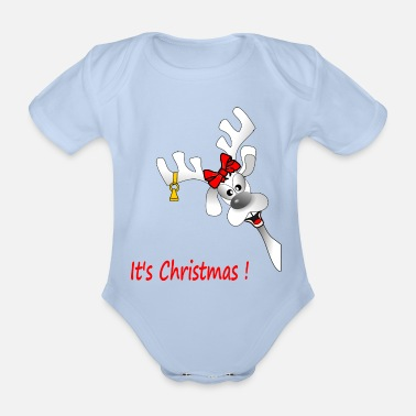 it s Christmas b - Organic Short-Sleeved Baby Bodysuit