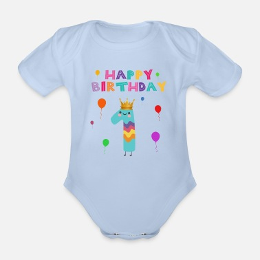 Happy Birthday happy Birthday - Organic Short-Sleeved Baby Bodysuit