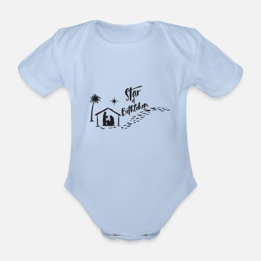 Bethlehem Star of Bethlehem - Organic Short-Sleeved Baby Bodysuit