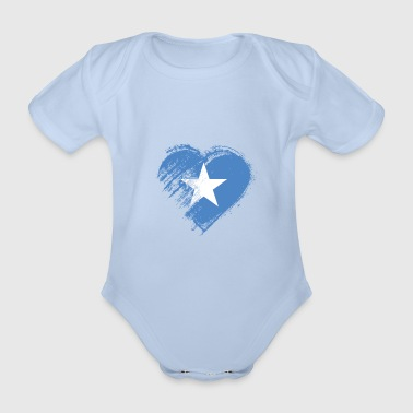Somalia Grungy I Love Somalia Heart Flag - Organic Short-sleeved Baby Bodysuit