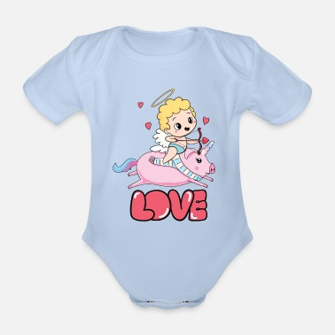 Asian Year of the Pig Chinese New Year 2019 Zodiac - Organic Short-sleeved Baby Bodysuit