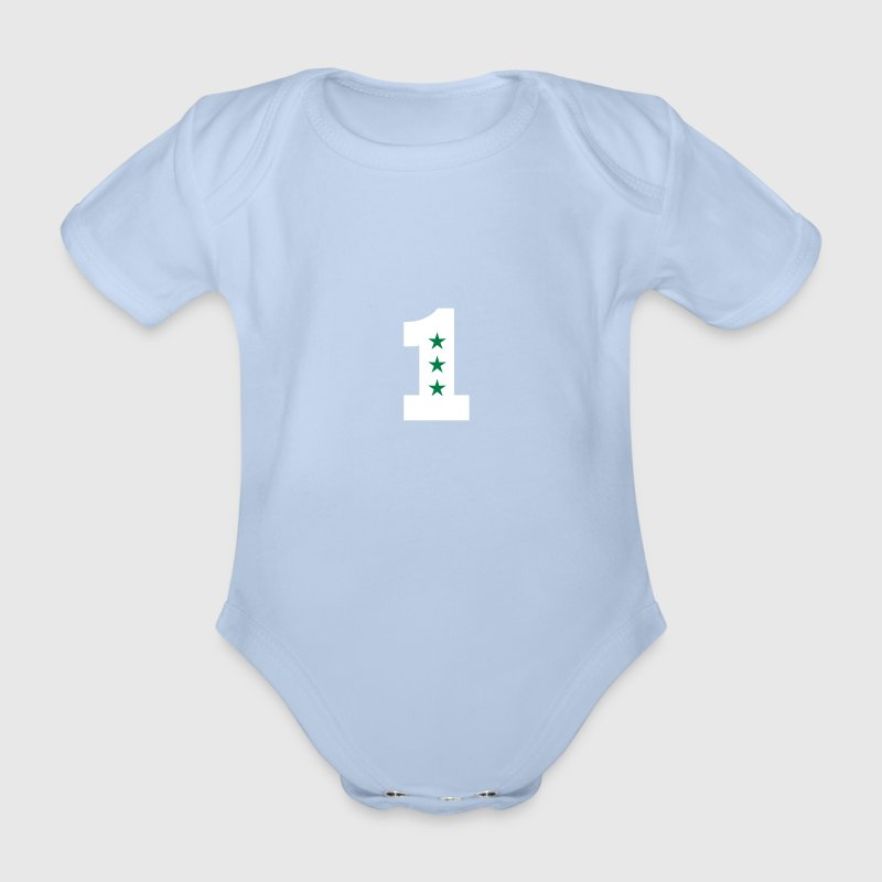 1. Geburtstag Eins One 1st birthday first T-Shirt - Baby Bio-Kurzarm-Body