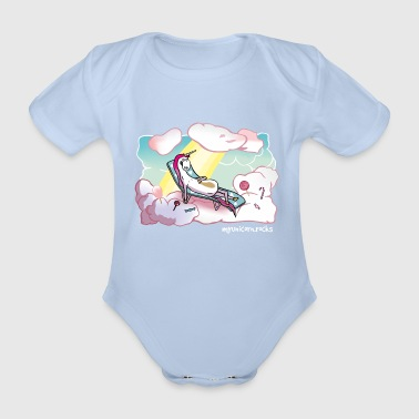 Unicorn Heaven - myunicorn.rocks - Økologisk kortermet baby-body
