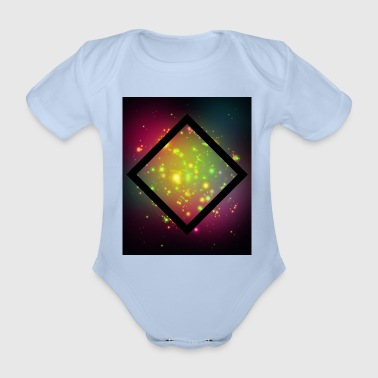 Quadrat Rhombus, galaxy, rectangle, hipster, triangle - Organic Short-sleeved Baby Bodysuit