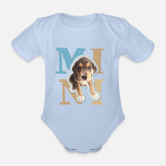 Officialbrands Baby Clothes - Animal Planet Mini Dog Baby Bodysuit - Organic Short-Sleeved Baby Bodysuit sky