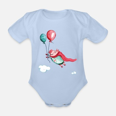 Supermetti - Organic Short-Sleeved Baby Bodysuit