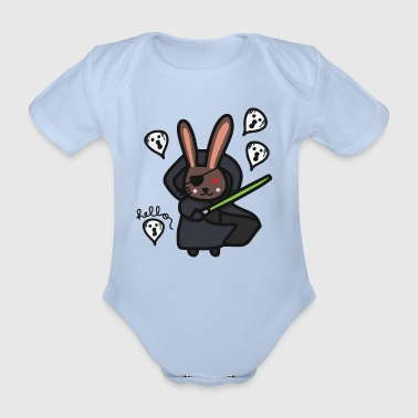 Peas Happy Halloween Darth Vader rabbit - Organic Short-sleeved Baby Bodysuit