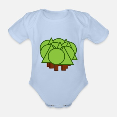 Mixing Mixed forest - mixed forest - forest - Organic Short-Sleeved Baby Bodysuit