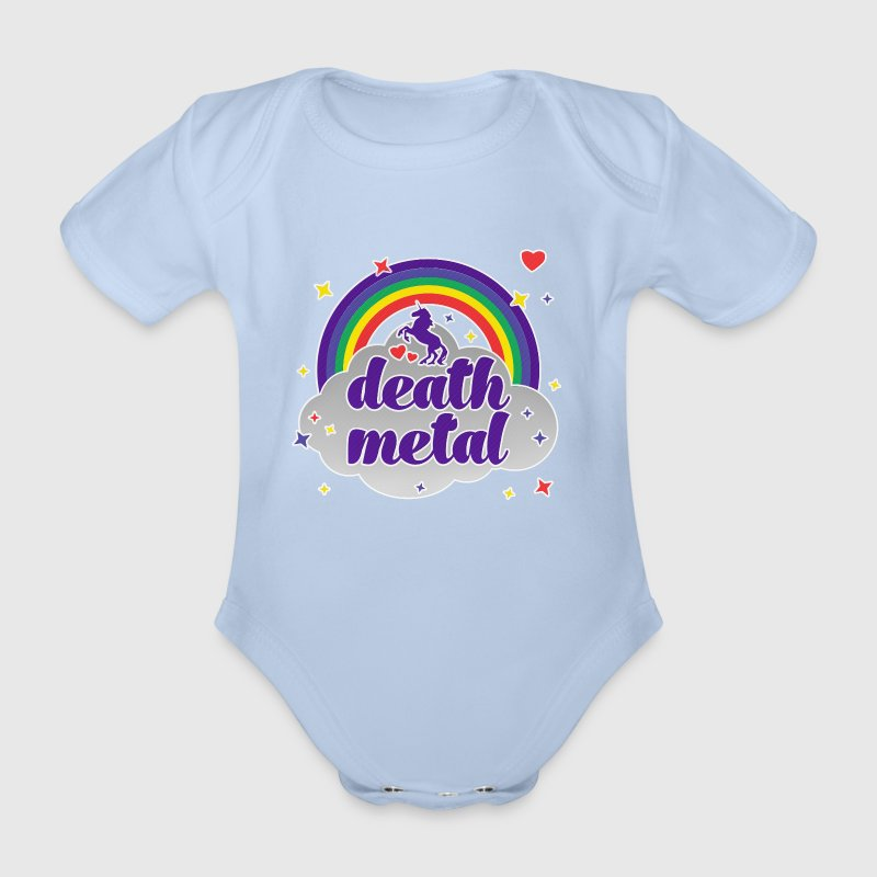 Death Metal Rainbow - Baby Bio-Kurzarm-Body