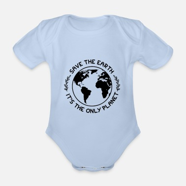 Protection Climate protection nature protection - Organic Short-Sleeved Baby Bodysuit