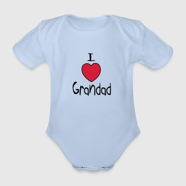 I Love Grandad - Organic Short-sleeved Baby Bodysuit