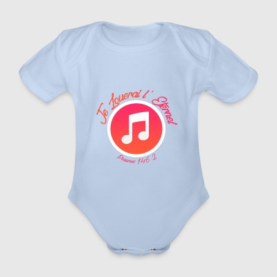 I will praise the Lord - Organic Short-sleeved Baby Bodysuit