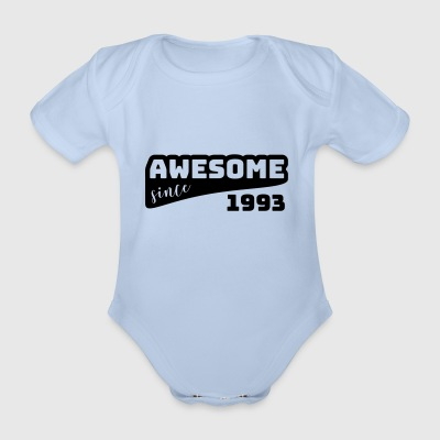 Awesome sinds 1993 / Birthday-shirt - Baby bio-rompertje met korte mouwen