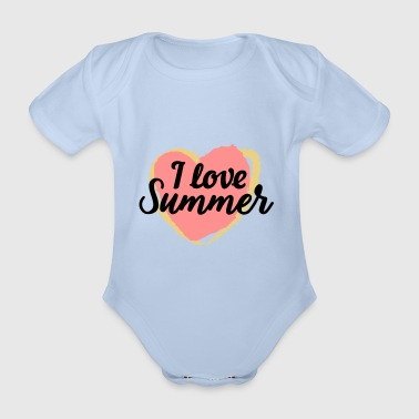 I Love Summer - Organic Short-sleeved Baby Bodysuit