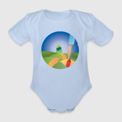 Follow that road! - Organic Short-sleeved Baby Bodysuit