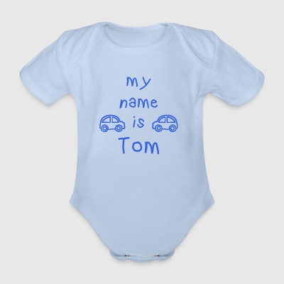 TOM MY NAME IS - Organic Short-sleeved Baby Bodysuit