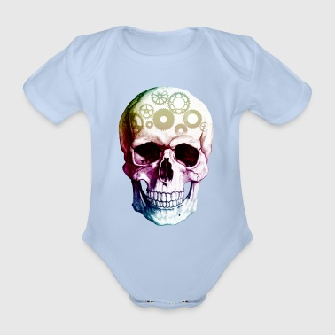 Skull and Crossbones - Abstract 4 - Organic Short-sleeved Baby Bodysuit