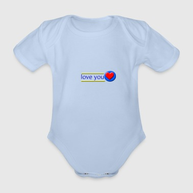 love you - Organic Short-sleeved Baby Bodysuit