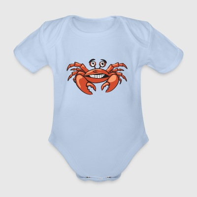 Crab - Organic Short-sleeved Baby Bodysuit