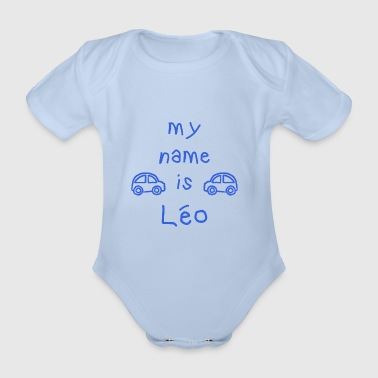 LEO MY NAME IS - Organic Short-sleeved Baby Bodysuit