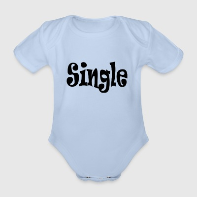 Single Black - Baby bio-rompertje met korte mouwen