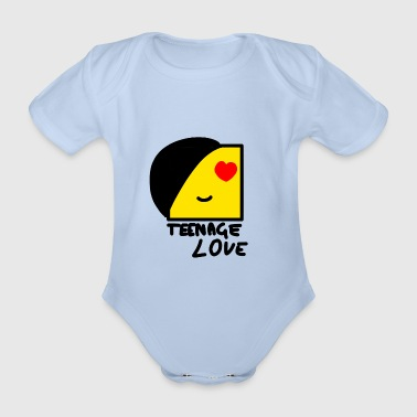 Emo Boy: Teenage Love - Organic Short-sleeved Baby Bodysuit