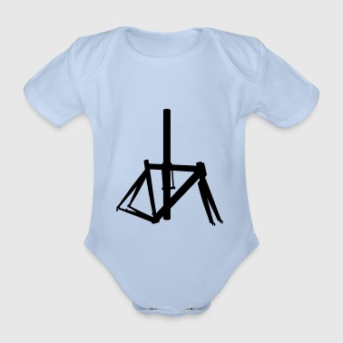 Bicycle frame 7 - Organic Short-sleeved Baby Bodysuit