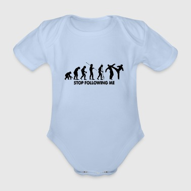 Evolution Stop Following Me - Baby Bio-Kurzarm-Body