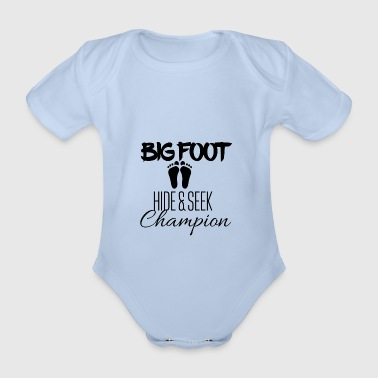 Big Foot Hide and seek champion - Organic Short-sleeved Baby Bodysuit