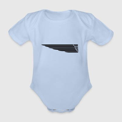 Eagle wing lung - Organic Short-sleeved Baby Bodysuit