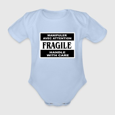 fragile - Organic Short-sleeved Baby Bodysuit