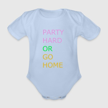 Party Hard - Organic Short-sleeved Baby Bodysuit