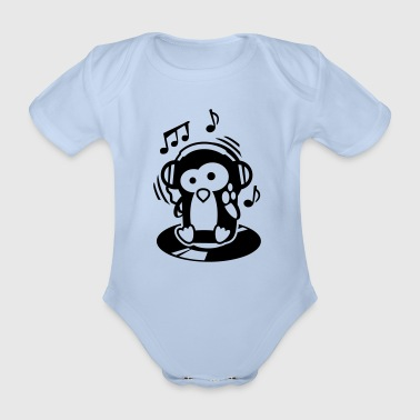 Pinguin Maverick - Herr der Turntables - Baby Bio-Kurzarm-Body