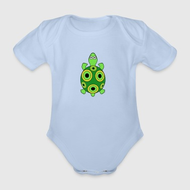 Maid turtle - Organic Short-sleeved Baby Bodysuit