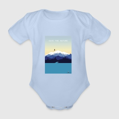 Save Nature - Organic Short-sleeved Baby Bodysuit