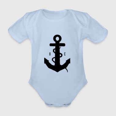 BOAT ANCHOR - Organic Short-sleeved Baby Bodysuit
