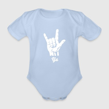 Devil Rock Hand - Pommesgabel (short) 1c - Baby Bio-Kurzarm-Body